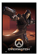 Overwatch Reaper Framed Cork Pin Notice Board With Pins