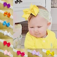 Newborn Girls Baby Toddler Infant Lace Bowknot Headband Hair Band Accessories