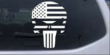 Punisher Skull With US Flag Horizontal  Car or Truck Window Laptop Decal Sticker