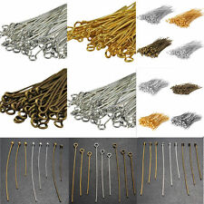 Free 100PCS Jewelry Design Repair gold Silver plated BALL FLAT HEAD PINS Needles