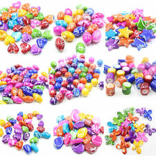 30Pcs Acrylic Colorful Heart/Sphere/Star Loose Spacer Bead Charm Jewelry Finding