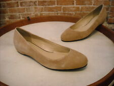 H by Halston Camel Brown Suede Alice Hidden Wedge Ballet Flats NEW