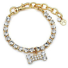 Buddy G Sparkling Austrian Crystal Gold-plated Pet Jewelry Collar