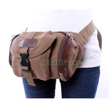Men's Canvas Travel Hiking Motorcycle Chest Fanny Pack Waist Thigh Drop Leg Bag
