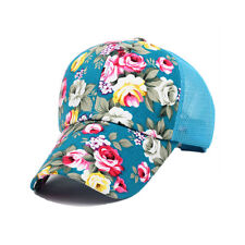 Summer Mesh Peaked Cap Floral Perforated Baseball Cap Golf Hiking Outdoor Hats