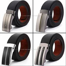 KS Genuine Leather Adjustable Auto Metal Lock Buckle Men's Belt 50 In Inches