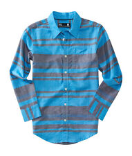 aeropostale kids ps boys' long sleeve engineered stripe woven shirt