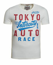 New Mens Superdry Factory Second Intercity Blacklabel T-Shirt Chalk Off White