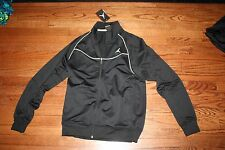 NIKE MEN'S AIR JORDAN BLACK WHITE JUMPMAN FLIGHT JACKET STYLE 638163 010 80.00