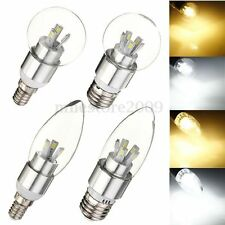 Dimmable E14 E27 4W 8W 5630-SMD LED Globe Chandelier Candle Light Lamp Bulb