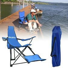 Camping Folding Chair Outdoor Foldable Fishing Beach Hiking Picnic Seat Stool US