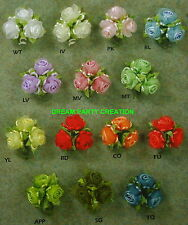 12 Bunches SATIN organza ROSES RAT-TAIL trim CHOOSE COLOR WHOLESALE BULK BUY !!!