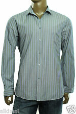 NEW MENS HUGO BOSS BLACK REGULAR FIT LORENZO STRIPE BUTTON UP SHIRT XL