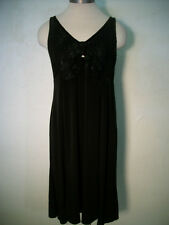 Olian Maternity Black Sleeveless Dress Lace Empire Waist knit NEW NWT Size S M L