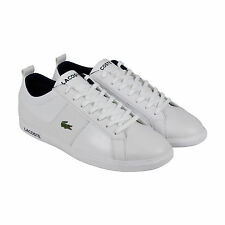 Lacoste Observe CA Mens White Blue Leather Lace Up Sneakers Shoes