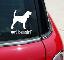 GOT BEAGLE? BEAGLE DOG GRAPHIC DECAL STICKER ART CAR WALL DECOR