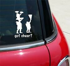 GOT CHEER? POM CHEERLEADING GRAPHIC DECAL STICKER ART CAR WALL
