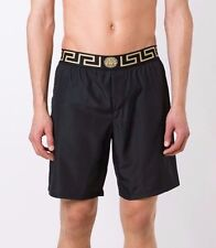Versace Black Swim shorts Long Black gold Trunks Board Beach BNWT S M L XL XXL
