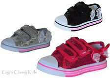 New Infant Baby Toddler Girls Tennis Shoes Slip On Sequins Sneakers Dressy Party