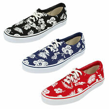 "UNISEX VANS ""OFF THE WALL"" LACE UP CANVAS SHOE IN RED, BLUE & BLACK STYLE - ERA"