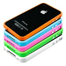 TPU SILICONE BUMPER FOR APPLE IPHONE 4 4S ALU BUTTON SOFT CASE COVER SILICON
