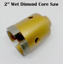 """2"""" Wet Diamond Segments Core Drill Bit with 5/8""""-11 for Granite Marble Hole Saw"""