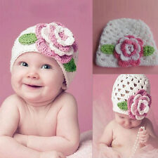 2016 New Sale Big Flower Baby Cap Kids Infant Toddler Girl Warm Beanie Knit Hat