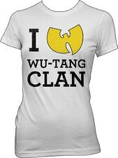 WUTANG - I Love Wu-Tang Clan - Girlie T SHIRT top S-M-L-XL Brand New Official