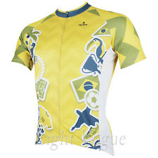 a Men World Cup Short Sleeve Cycling Jersey Bicycle Bike Sportwear Rider D151