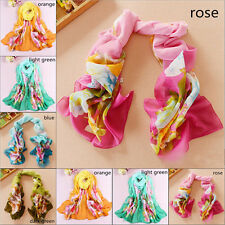 Fashion Peony Girls Women Long Soft Wrap Lady Shawl Silk Chiffon Scarf New Hot