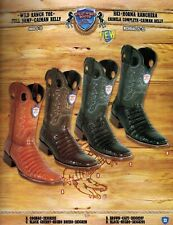 Wild West Mens Ranch Toe Caiman Belly Full Vamp Cowboy Western Boots Diff.Colors