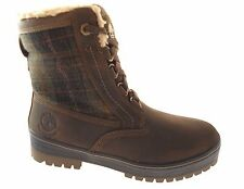TIMBERLAND 6869B SPRUCE MNT MEN'S DK BROWN PLAID WATERPROOF INSULATED BOOTS