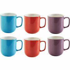 6x Assorted Porcelain Mugs 400ml Tea Coffee Latte Hot Chocolate Drinks Cups New