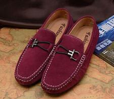 Fashion Mens slip on suede driving shoes loafer moccasin gommino flat comfort