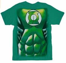 Adult Green DC Comics Green Lantern Muscle Costume Suit Print T-shirt Tee