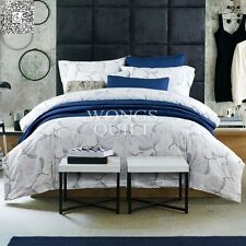 White 100% Cotton Twin Full Queen King Size Duvet/Quilt Cover Bedding Set 4PCS