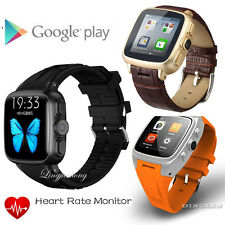 X01 Wifi Smart Watch Phone GPS 2G/3G Andriod 4.4 Waterproof Heart Rate Monitor
