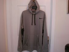 NEW WT MEN'S NIKE PULL OVER SWEAT SHIRT HOODIE BLACK GRAY THERMA FIT M, L,2XL