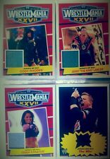 WWE 2012 HERITAGE - 2014 ROAD WRESTLEMANIA Shirt RELIC / AUTOGRAPH CARD Singles