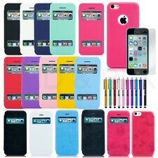 Heavy Duty Hybrid Rugged Hard Case Cover For Apple iPhone 5C SE Screen Protector