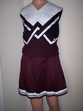 Cheerleader Uniform Fancy Maroon Halloween Dance Costume