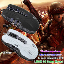 9D Adjustable 3200DPI Optical Wired Gaming Mouse Vibration Breathing Lights A1B
