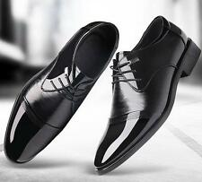 New Mens dress formal lace up wedding shoes patent leather casual shoes