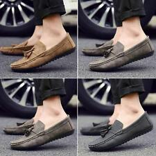 Fashion Mens Moccasins gommino Loafers Slip On Flat Casual tassel Driving Shoes