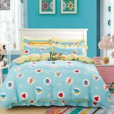 New Candy100%Cotton Twin Full Queen King Size Duvet/Quilt Cover Bedding Set 3pcs