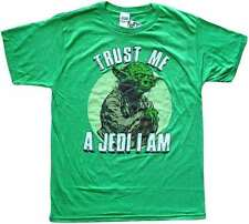 Star Wars Yoda Trust Me A Jedi I Am Green Men's T-Shirt New