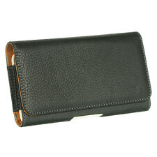 Black Tan XL Luxmo Belt Clip Holster Pouch Clip Case For Cell Phones