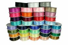"""DOUBLE FACE Silky SATIN Ribbon CHOOSE 1/8"""" OR 1/16""""  in 30 COLORS 100% POLYESTER"""