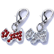 Pet Accessories Rhinestone Dog Tag Collar Charms Lobster Clasp Jewelry Pendants