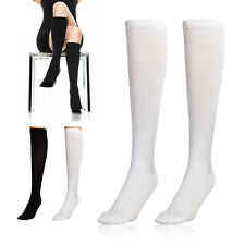 Unisex Comfortable Compression Support Running Socks Knee High Slim Foot Care
